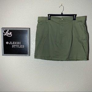 Olive Green Khaki Skort with pockets